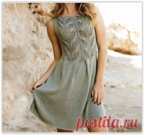 Очаровательное платье с изысканным ажурным верхом из кос!
