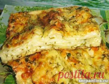 Сырный пирог из лавашей