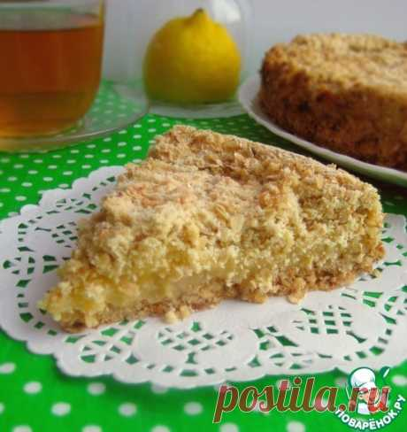 Овсяный пирог с лимонным кремом