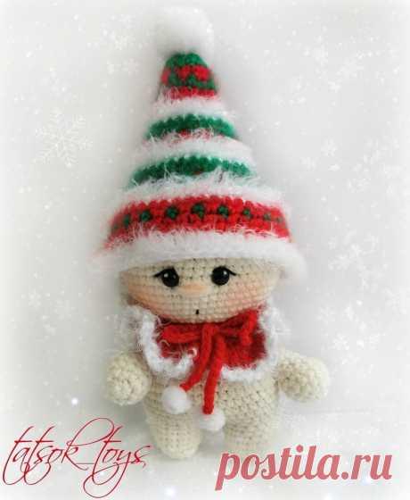 Малыш рождественский гномик - схема   Амигуруми