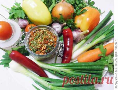 Приправа из сушеных овощей и зелени. Рецепт с пошаговыми фото