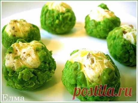 Закусочное пирожное Тякин-Сябори (из сыра и зеленого горошка)