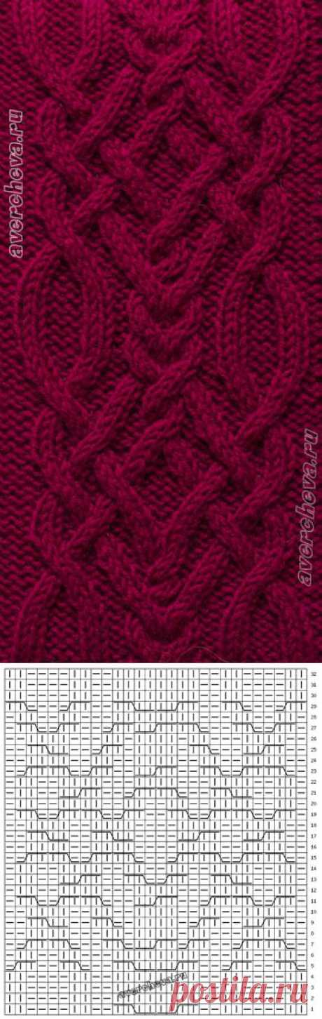 pattern 369th braid 28 loops wide | catalog knitted spokes of patterns