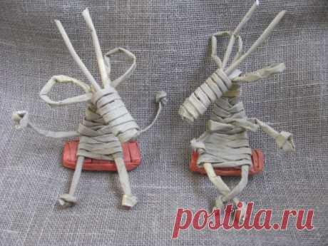 Плетение козы из газетных трубочек, мастер класс