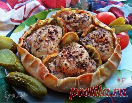 Курочка, запеченная в съедобной тарелке рецепт 👌 с фото пошаговый   Едим Дома кулинарные рецепты от Юлии Высоцкой
