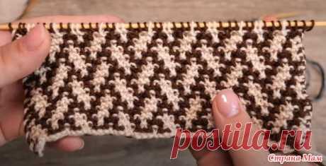 Узор «Елочка» или «Плетенка» спицами - Вязание - Страна Мам