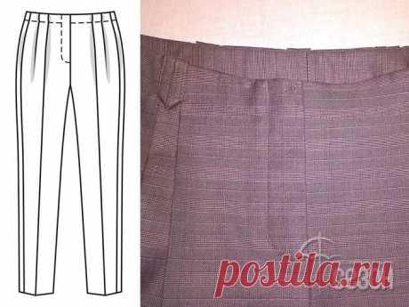 Выполнение гульфика, откоска и застёжки молнии на брюках — Сделай сам, идеи для творчества - DIY Ideas