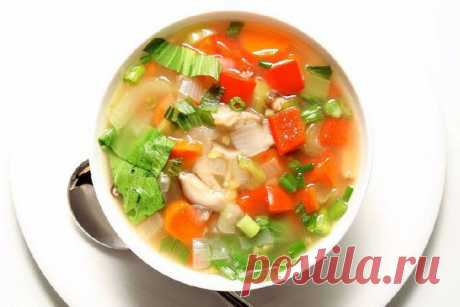 Soup for weight loss\u000aon 100 grams - 28.72 kkalb\/zh\/u - 1.51\/0.09\/5.75\u000a\u000aIngredients:\u000aTomatoes — 4 pieces\u000aTo show completely …