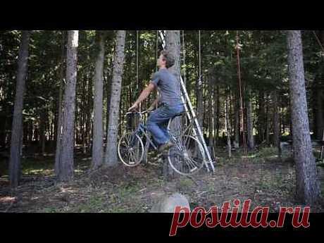Bicycle Powered Tree House Elevator - YouTube