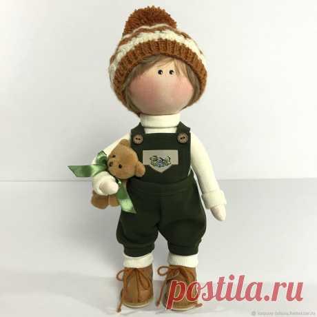 Кукла текстильная -мальчик. Ручная работа.