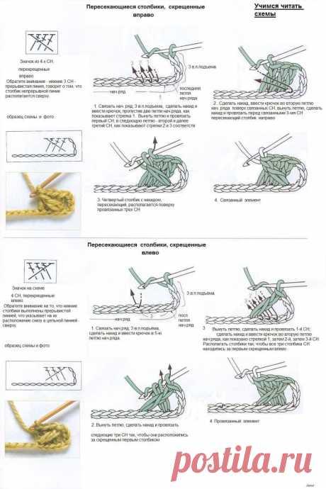 Как правильно читать схемы для вязания — Рукоделие