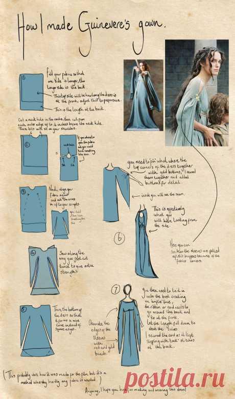 Сказочное платье лесной нимфы или средневековой принцессы   Отлично! Школа моды, декора и актуального рукоделия