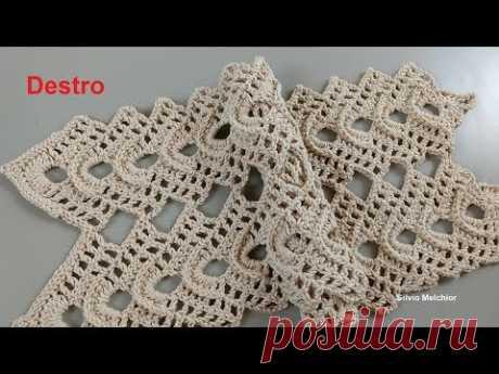 vídeo aulas crochê - Motivo Fantasia em Crochê (DESTRO) - YouTube