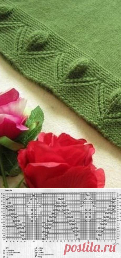 Тюльпаны могут расцветать на кайме изделия!