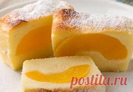 Запеканка манная с персиками - Кулинария