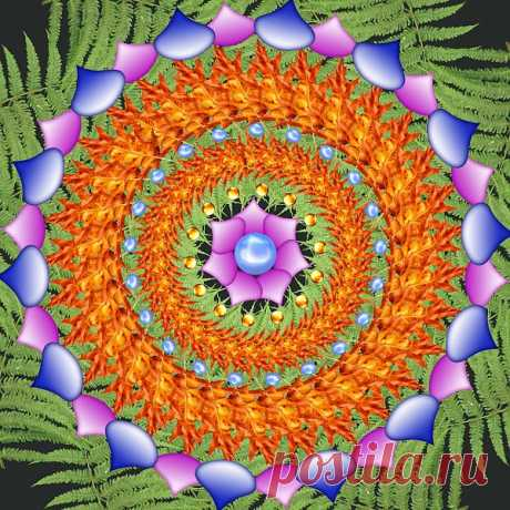 Digital Patterned Mandala  Free Stock Photo HD - Public Domain Pictures