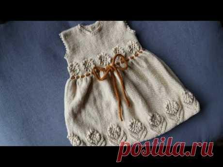 Çiçekli örgü jile elbise modelinin yapılışı  1.bölüm