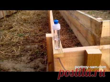 Деревянная опалубка своими руками - YouTube
