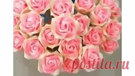 Букет красивых роз своими руками ????