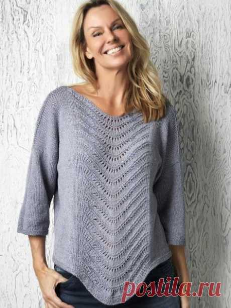 Strikket bluse med fint bølgemønster | Femina