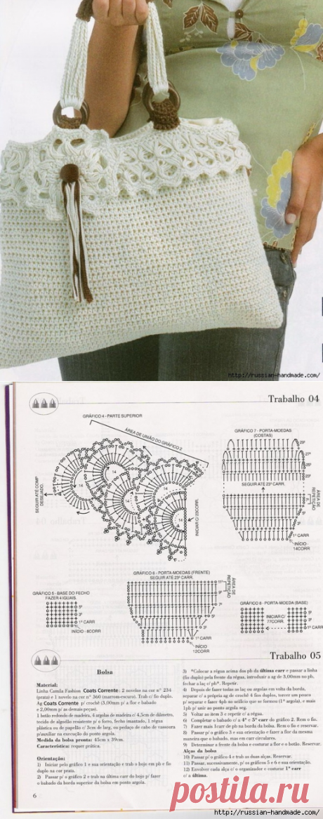 """Summer handbag hook. Scheme: Diary of \""""We KNIT ACCORDING TO the DESCRIPTION\"""" group: Groups - the female social network myJulia.ru"""