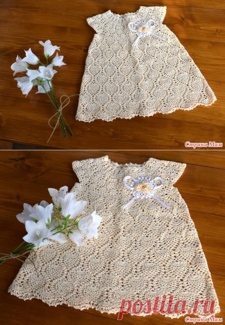 . Платье для малышки - Вязание - Страна Мам