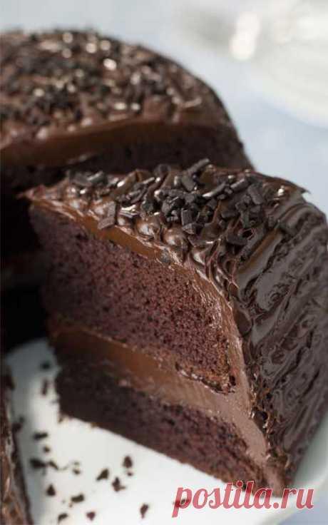 """Тот самый """"Влажный"""" шоколадный торт без яиц!   Golbis"""