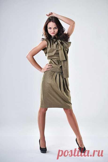 костюм (топ+юбка) из  мягчайшей кашемировой ткани  с ворсом состав: кашемир 86% вискоза 14% р-р 44