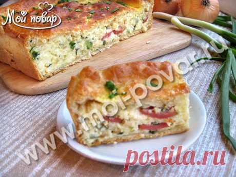 Луковый пирог с плавлеными сырками и сосисками – ЭТО ВКУСНО!