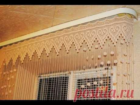 """Как связать легкие шторы в гостиную с помощью крючка - Журнал """"Сам себе изобретатель"""""""