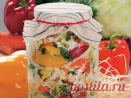 Капустный салат «Белоцерковский» на зиму Приятного аппетита!