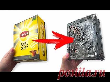 DIY Переделка чайной коробки Lipton | Декор коробки
