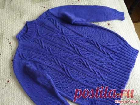 . Теплый свитер лавандового цвета. - Вязание - Страна Мам