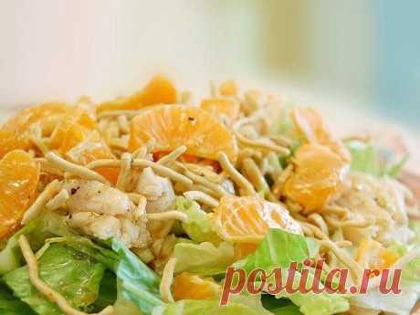 Салат с курицей и апельсинами: можно даже на ночь!
