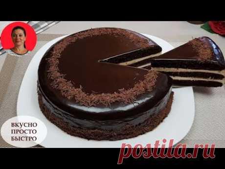ЧУДО Торт Без Духовки и Печенья ✧ На Сковороде ✧ Chocolate Miracle Cake Recipe ✧ SUBTITLES