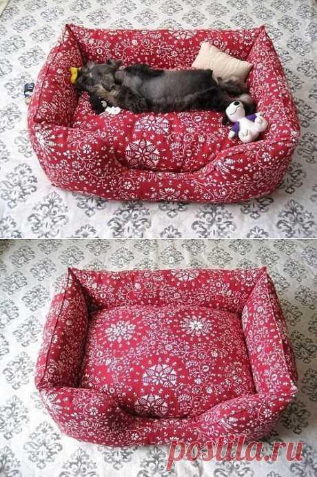 Как сшить лежанку для кошки или собаки