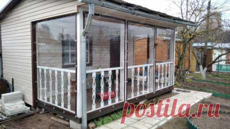 Фото - мягкие окна ПВХ, прозрачные шторы для беседок, веранд, террас