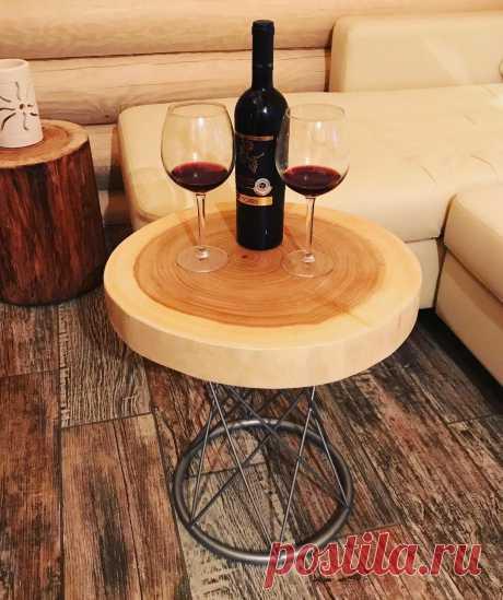 Купить Стол из спила - бежевый, столик, столешница, стол из дерева, Спил дерева, спил тополя