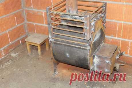 Печь для бани из трубы своими руками, колосник не нужен | Генератор Идей | Пульс Mail.ru Подробная конструкция печи для бани.