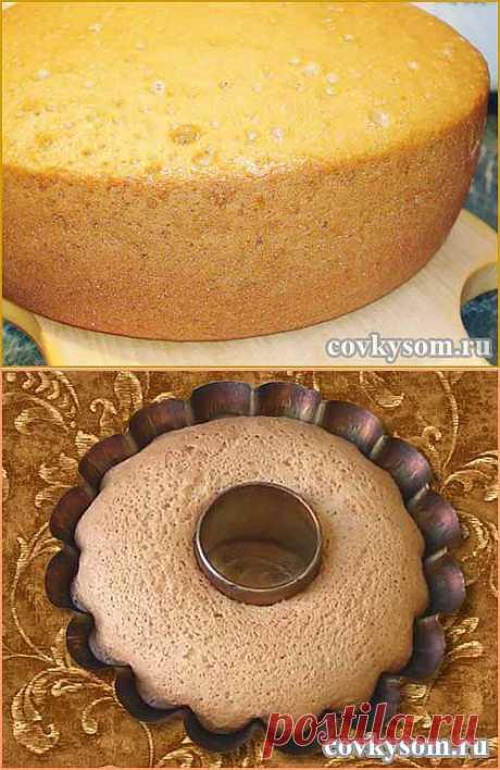 Как испечь вкусный бисквит | Со вкусом
