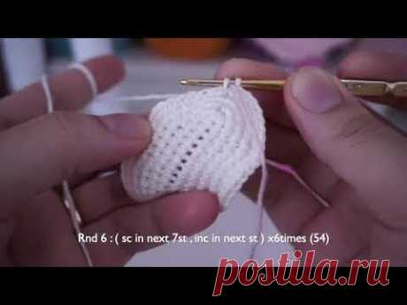 Doll joints body crochet tutorial ( body , arms and head )