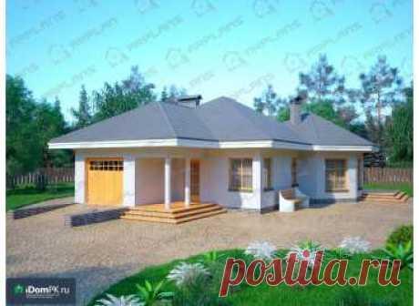 p1725rb – проект одноэтажного дома с гаражом из блоков с большой кухней до 100 кв м