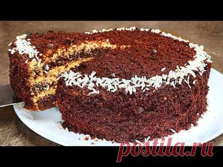 Бомбический Домашний ТОРТ, который не нуждается в пропитке! Супер Вкусный Шоколадный торт!