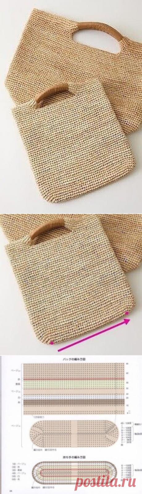 Вяжем сумочку крючком
