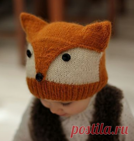 "Hat \""Fox\"" (Knitting by spokes)   Inspiration of the Needlewoman Magazine"