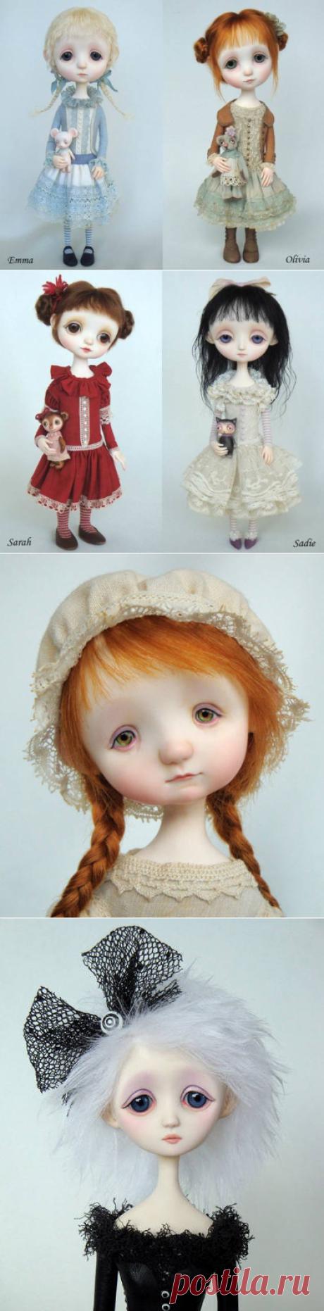 Куклы с грустными глазами Анны Сальвадор.