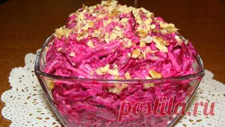 Свекольно-грушевый салат с сыром