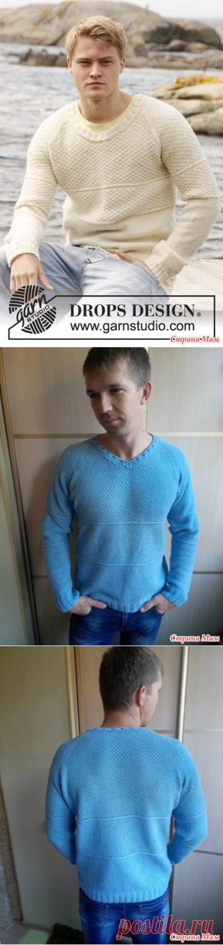 . Пуловер мужской спицами - Вязание - Страна Мам