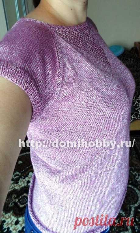 Вязание спицами кофточки без швов