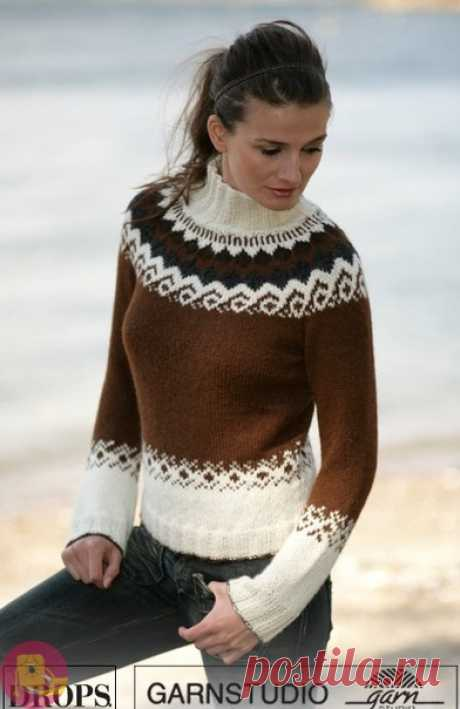 Sweater in contrast scale